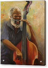 Cleve Playing The Jazz Acrylic Print by Jill Holt