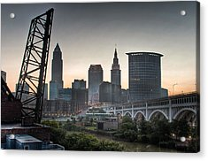 Cleveland Awakens Acrylic Print by At Lands End Photography