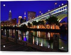 Cleveland Boardwalk Skyline Acrylic Print