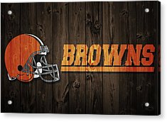 Cleveland Browns Barn Door Acrylic Print by Dan Sproul
