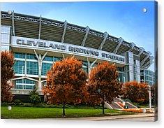 Cleveland Browns Stadium Acrylic Print by Kenneth Krolikowski