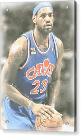 Cleveland Cavaliers Lebron James 1 Acrylic Print by Joe Hamilton