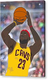 Cleveland Cavaliers - Lebron James - 2014 Acrylic Print