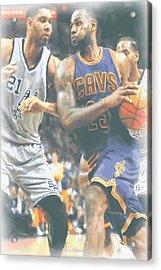 Cleveland Cavaliers Lebron James 4 Acrylic Print by Joe Hamilton