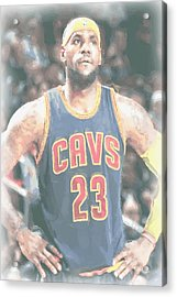 Cleveland Cavaliers Lebron James 5 Acrylic Print by Joe Hamilton