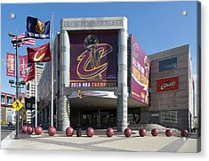 Acrylic Print featuring the photograph Cleveland Cavaliers The Q by Dale Kincaid