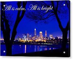 A Cleveland Christmas Acrylic Print