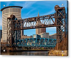 Cleveland City Of Bridges Acrylic Print