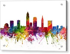 Cleveland Cityscape 06 Acrylic Print by Aged Pixel