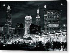Cleveland Iconic Night Lights Acrylic Print