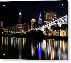 Acrylic Print featuring the photograph Cleveland In The World Series 2016 by Dale Kincaid