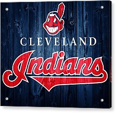 Cleveland Indians Barn Door Acrylic Print by Dan Sproul