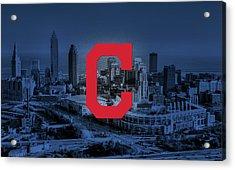 Cleveland Indians City Acrylic Print by Nicholas Legault