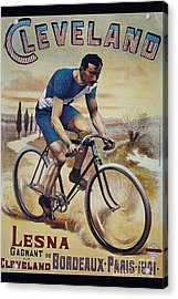 Cleveland Lesna Cleveland Gagnant Bordeaux Paris 1901 Vintage Cycle Poster Acrylic Print