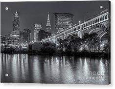 Cleveland Night Skyline IIi Acrylic Print