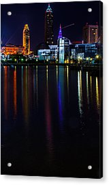 Cleveland Nightly Reflections Acrylic Print