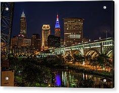 Cleveland Nightscape Acrylic Print
