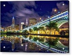 Acrylic Print featuring the photograph Cleveland Skyline 4 by Emmanuel Panagiotakis