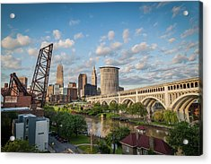 Cleveland Skyline Vista Acrylic Print