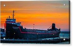 Cleveland Sunset Acrylic Print