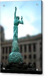 Cleveland War Memorial Fountain Acrylic Print