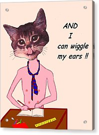 Clever Cat Acrylic Print by Bethwyn Mills