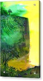 Cliff Acrylic Print by Anil Nene