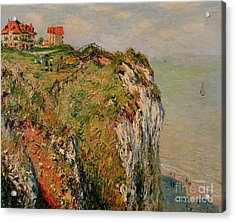 Cliff At Dieppe Acrylic Print by Claude Monet