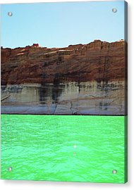 Acrylic Print featuring the photograph Cliff At Lake Powell by Christopher Meade