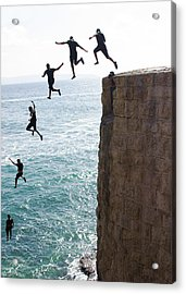 Cliff Diving Acrylic Print