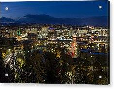 Cliff Drive Rush Hour - Spokane  Acrylic Print