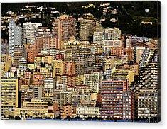 Cliff Dwellers Of Monte Carlo Acrylic Print by Richard Ortolano