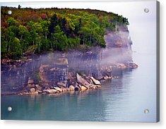 Cliff Fog Acrylic Print