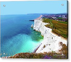 Acrylic Print featuring the photograph Cliff Landscape by Francesca Mackenney