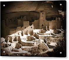 Acrylic Print featuring the photograph Cliff Palace Mesa Verde by Kurt Van Wagner