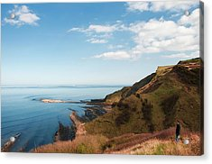 Cliff Side Acrylic Print by Svetlana Sewell