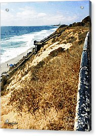 Cliff View - Carlsbad Ponto Beach Acrylic Print