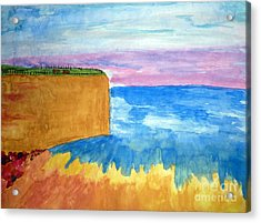 Cliffs And Sea Acrylic Print