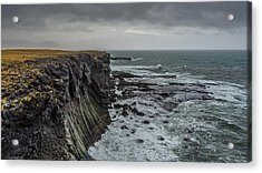Acrylic Print featuring the photograph Cliffs At Arnarstapi by James Billings