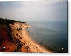 Cliffs Of Block Island Acrylic Print