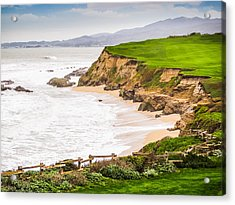 The Cliffs At Half Moon Bay Acrylic Print