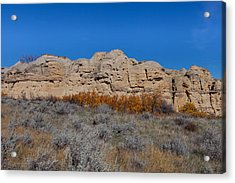 Acrylic Print featuring the photograph Cliffs Of Hoodoos by Fran Riley