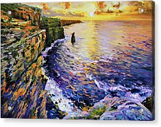 Cliffs Of Moher At Sunset Acrylic Print