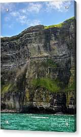 Acrylic Print featuring the photograph Cliffs Of Moher From The Sea Close Up by RicardMN Photography