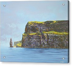 Cliffs Of Moher From The Sea Acrylic Print by Eamon Doyle