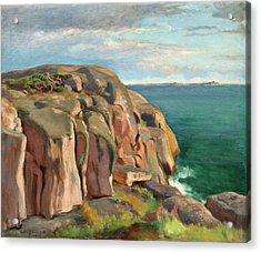 Cliffs On The Shore Of Kaivopuisto Acrylic Print