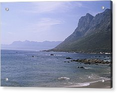 Cliffs Rise From The Ocean Near Cape Acrylic Print by Stacy Gold