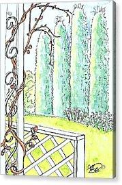 Clinging Vine Acrylic Print by George I Perez