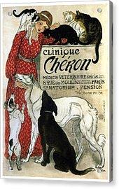 Clinique Cheron - Vintage Clinic Advertising Poster Acrylic Print