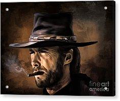 Clint Acrylic Print